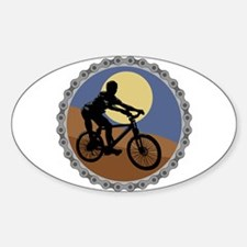 Mountain Bike Chain Design Oval Decal