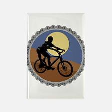 Mountain Bike Chain Design Rectangle Magnet
