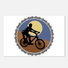 Mountain Bike Chain Design Postcards (Package of 8