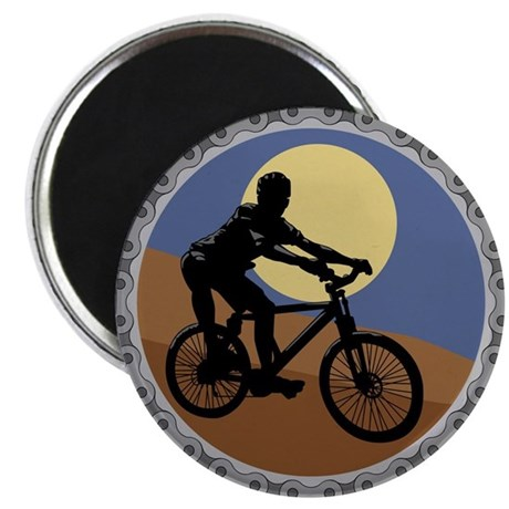 Mountain Bike Chain Design Magnet