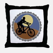 Mountain Bike Chain Design Throw Pillow
