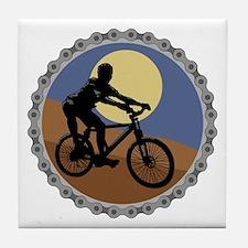 Mountain Bike Chain Design Tile Coaster