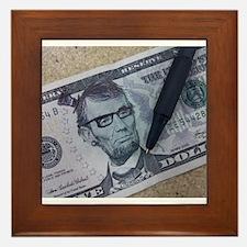 Hipster Lincoln Framed Tile