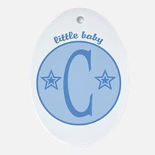 Baby C Oval Ornament