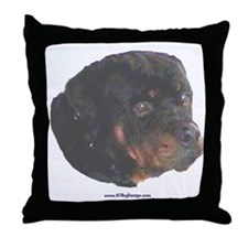 Rottie painting Throw Pillow