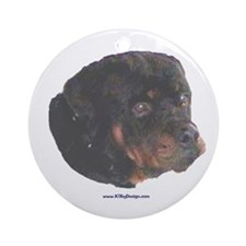 Rottie painting Ornament (Round)