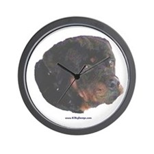 Rottie painting Wall Clock