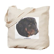 Rottie painting Tote Bag