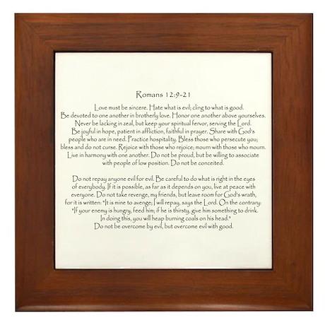 Romans 12:9-21 Framed Tile