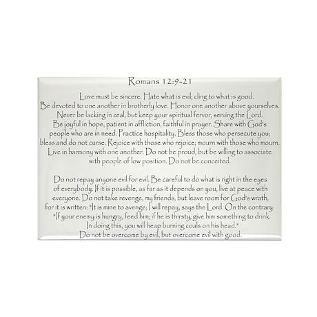 Romans 12:9-21 Rectangle Magnet (10 pack)