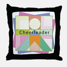 Abstract Cheerleader Throw Pillow
