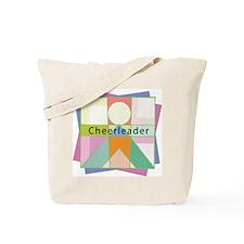 Abstract Cheerleader Tote Bag