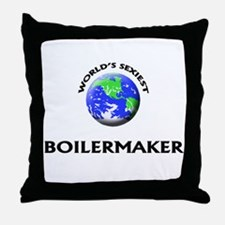 World's Sexiest Boilermaker Throw Pillow