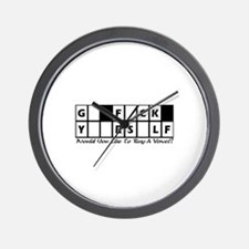 G_ F_CK Y__RS_LF Wall Clock