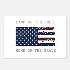 Land of the Free Postcards (Package of 8)