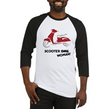 Scooter Woman (Red) Baseball Jersey