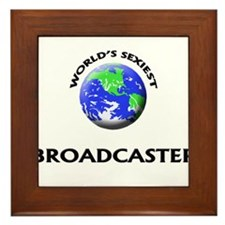 World's Sexiest Broadcaster Framed Tile