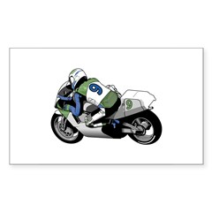 Motorcycle Racer Rectangle Decal