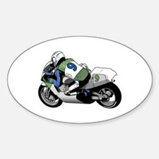 Motorcycle Racer Oval Decal
