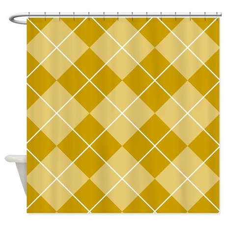 mustard and yellow shower curtain by graphicallusions