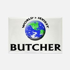 World's Sexiest Butcher Rectangle Magnet