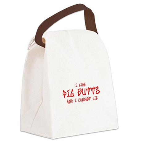 I-like-pig-butts-st-soul-red Canvas Lunch Bag