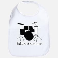 Silhou Black Future Drummer Baby Bib