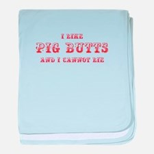 I-like-pig-butts-max-red baby blanket