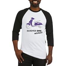 Scooter Woman (Purple) Baseball Jersey