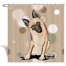 Curious German Shepherd Shower Curtain