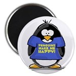 Penguins Make Me Happy Pengui Magnet