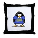 Penguins Make Me Happy Pengui Throw Pillow
