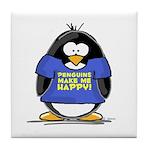 Penguins Make Me Happy Pengui Tile Coaster