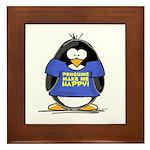 Penguins Make Me Happy Pengui Framed Tile
