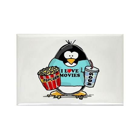 Movie Penguin Rectangle Magnet (10 pack)