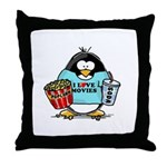 Movie Penguin Throw Pillow