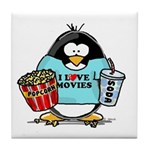 Movie Penguin Tile Coaster