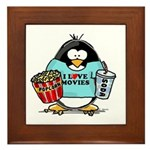 Movie Penguin Framed Tile