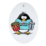 Movie Penguin Oval Ornament