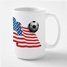 U.S. Soccer Flag Large Mug