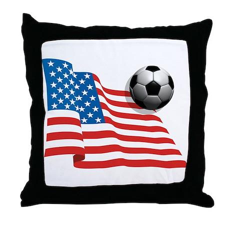 U.S. Soccer Flag Throw Pillow