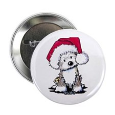 "Christmas Havanese Puppy 2.25"" Button"