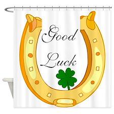 Good Luck Horseshoe Shower Curtain