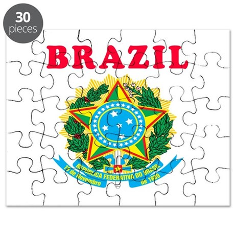 Brazil Coat Of Arms Designs Puzzle
