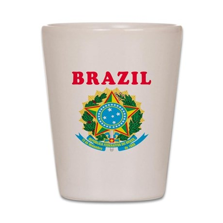 Brazil Coat Of Arms Designs Shot Glass