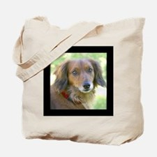 Long Haired Dachshund Tote Bag 10 commandments dog