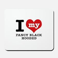 I love my Fancy Black Hooded Mousepad