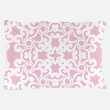Baby Pink & White Lace Tile Pillow Case