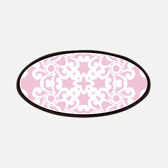 Baby Pink & White Lace Tile Patches