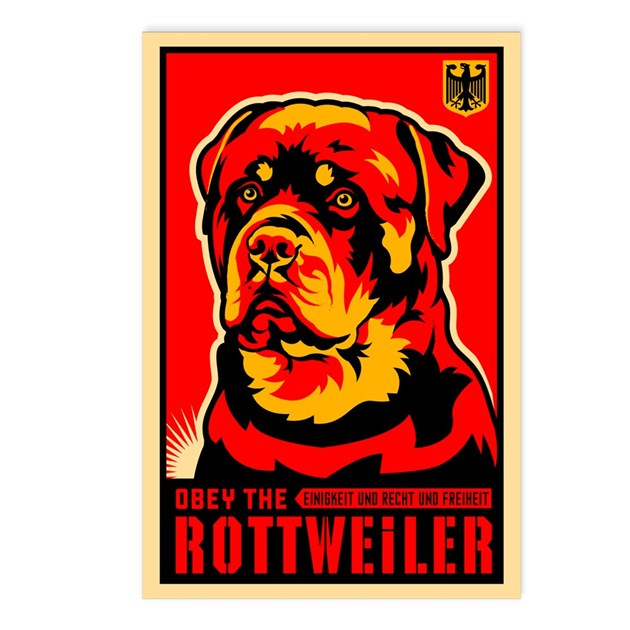 Obey the ROTTWEILER! Postcards (Pack of 8) by dogs_of_war